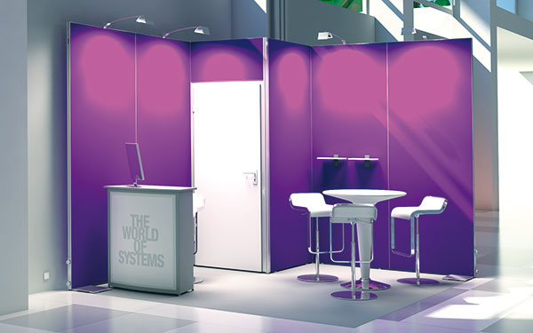 Messestand Octawall